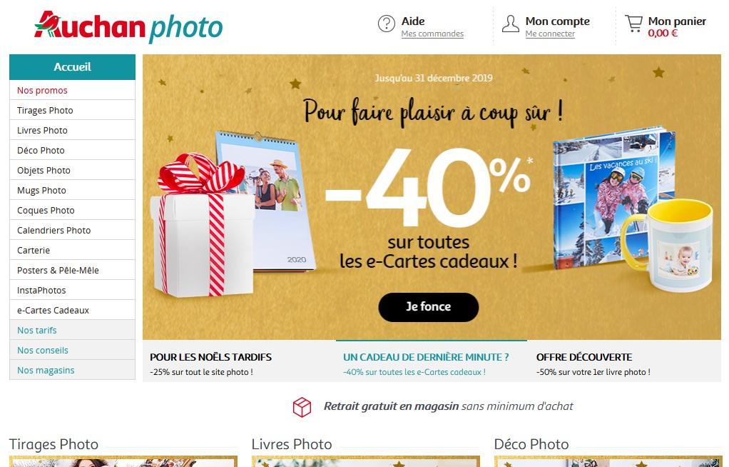 Votre impression Plexiglas avec Auchan