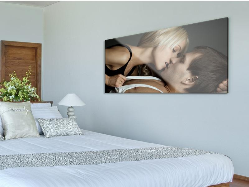 impression photo sur plexiglas dans la chambre